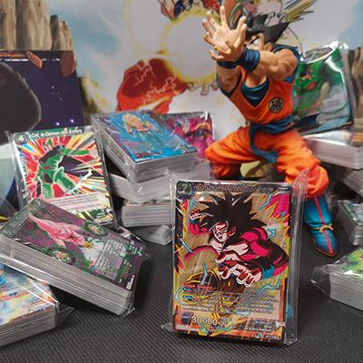 Lot de 50 Cartes françaises Dragon Ball sans Doubles + 1 Carte Rare !