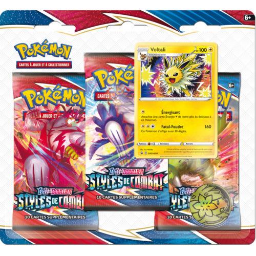Pokémon – Coffret Tripack 3 Boosters – EB05 – Épée et Bouclier 5 Styles de Combat –